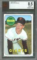 1969 topps #584 DON MASON san francisco giants (pop 1) BGS BVG 8.5