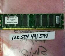 KINGSTON CHIP 1GB DDR PC-3200 2.6VOLT Non-ECC Unbuffered 184Pins DUAL RANK