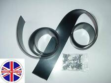 2 x Rubber GARAGE DOOR Reinforced WEATHER SIDE SEALS Draught Excluder & Fixings