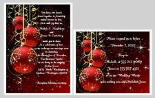 100 Personalized Custom Winter Christmas Snowflakes Wedding Invitations Set