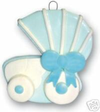 CHRISTMAS ORNAMENT *Baby Stroller / Carriage - Boy* NEW