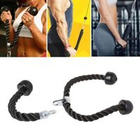 Gym Fitness Equipment Tricep Rope Biceps Strength Training Bodybuilding Exercise