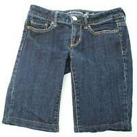 American Eagle Womens Size 2 Bermuda Denim Blue Jean Shorts Stretch Dark Wash
