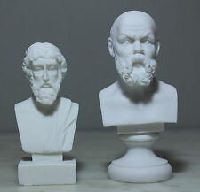 """Socrates Plato Greek Philosophy Father Bust Statue Alabaster Athens Art 6.3"""" New"""