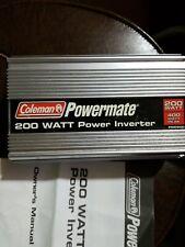 New listing Coleman Powermate inverter 200 Watt Pmp200 400 watt peak. 12V-110V, 1.6 Amps