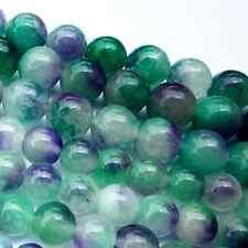 8mm Tibetan Buddhism 108 purple green Jade Prayer Bead Mala Necklace