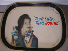 Booth's High & Dry Gin Vintage Tray Distillery woman red lips bottle advertising