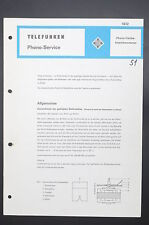 TELEFUNKEN Original Phono-service/Service-Manual/Anleitung/Schaltplan! o43