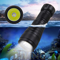 Scuba Waterproof 10000LM XM-L2 LED Diving Flashlight Lamp Underwater 200M Torch
