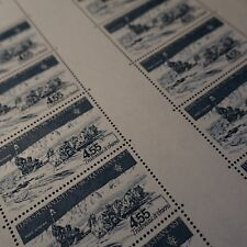 FEUILLE SHEET TAAF PA Nº71 x10 TRINEO HA PERROS 1982 NEUF LUXE MNH