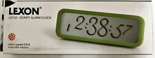 Reisewecker Wecker Uhr Alarm Lexon Script Designer Clock LCD Neu OVP grün