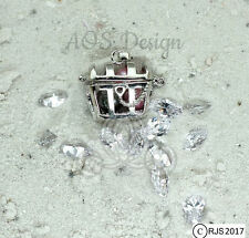 Pick A Pearl Cage Silver Plated Pirate Treasure Chest Locket Bead CHARM ONLY
