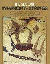 The Second Symphony of Strings Macrame Vintage Pattern Book Necklaces Bracelets