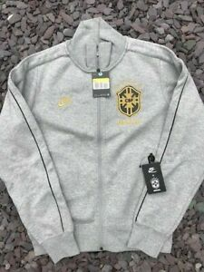 Mens Nike X Brazil Full Zip Bonded Embroidered Track Top Grey XL RRP £69.99