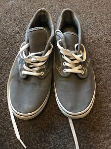 Vans grey trainers UK 4.5