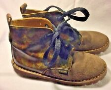 Dr. Martens Brown Leather Casual Boots Steampunk Youth Size 1 Brown/camo England
