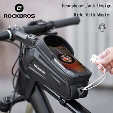 RockBros Bike Phone Front Frame Bag Touch Screen Bicycle Top Tube Bag Waterproof