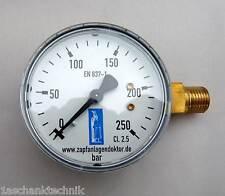 Manometer 3bar Druckminderer reparieren Schankanlage Hauptdruckminder Bar