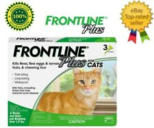 Frontline Plus Flea and Tick Treatment for Cats and Kittens - 3 Doses Free ship