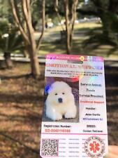 Pink EmotionalSupport/Service DogCard ID Holographic Charity ADA ESA With QRCode