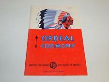 BSA - OA…ORDEAL CEREMONY…1978 PRINTING