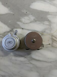 vintage automatic fly fishing reels H-1 Horrocks-Ibbotson Utica South Bend #1190