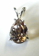 Earth-mined pink zircon in a solid sterling silver pendant ...2.55 Carat Gem