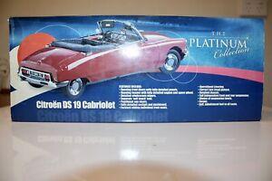 RARE Sun Star 1:18 Blue Citroen DS 19 Cabriolet Platinum Edition MPN 4742