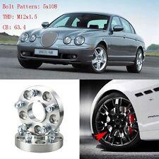 "4pcs 1"" Wheel Spacers Adapters 5 Lug 5x4.3""/5x108-12x1.5 Studs For Jaguar S-Type"