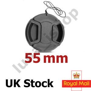 55mm Lens Cap Front Cover for Canon Nikon Sony Sigma Mitakon 55mm UK SELLER