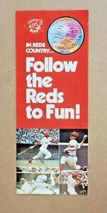 1979 Cincinnati Reds Baseball Schedule In Reds Country...Follow the Reds to Fun
