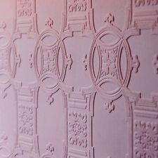 Textured WHITE Victorian Tile Effect Paintable Wallpaper 10m - Anaglypta