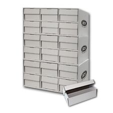 3 Stackable Cardboard Sports Card House Box & 18 2-Row 1600ct Storage Boxes