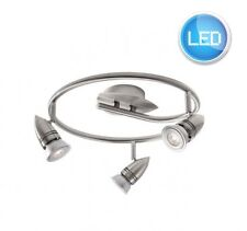 Modern Silver Satin Chrome GU10 LED 3 Way Kitchen Spot Light Ceiling Light