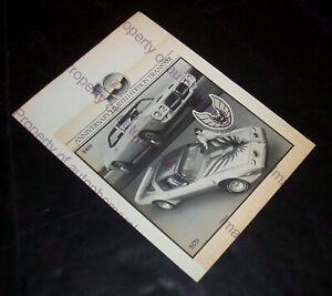 1969 1979 PONTIAC Firebird TRANS AM 10th Anniversary PRESS KIT: Photo & Releases