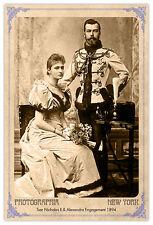 NICHOLAS & ALEXANDRA Tsar Vintage Photograph A+ Reprint Cabinet Card