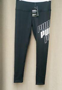 PUMA Women's Black & White Logo Active Wear Tight Fit Leggings Size M NEW $45