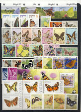 Beautiful Butterfly on Stamp collection mnh vf clean and fresh on 3 pages