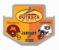 2019 OUTBACK BOWL PIN MINNESOTA GOLDEN GOPHERS AUBURN TIGERS SHIPS NOW!! NCAA