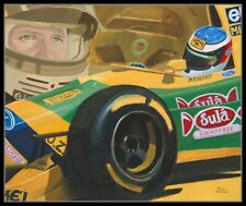 Painting 1993 Benetton Ford B193 #5 Michael Schumacher by Toon Nagtegaal