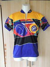 Louis Garneau men's 100%polyester multicolor cycling jersey w/open back pocket S