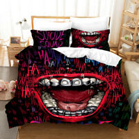 3D Abstract Mouth Movie Quilt Cover Set Bedding Duvet Cover Single/Queen/King 67