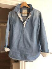 Joules Blue Denim Shirt Top - Size 14