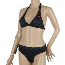 Damen Bikini set adidas Womens HN BI Schwarz Halterneck Infinitex Badeanzug 32