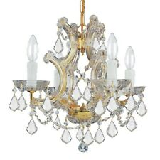 Crystorama Maria Theresa Chandelier, Crystal Elements Crystal 4474-GD-CL-S