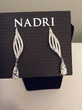 Nadri Crystal SilverTone Dangle Earrings $70 #240