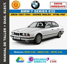 Manual de Taller BMW Serie 7 (E32 Modelos 735-740-750) 1988-1994 + Diagramas
