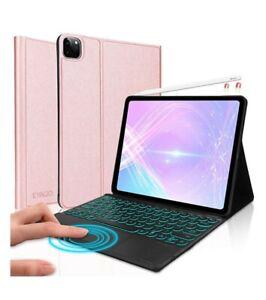 """for iPad Pro 12.9"""" 4th Gen 2020 & 3rd Gen 2018 Touchpad Backlight Keyboard Case"""