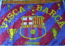 Bandera Flag Fahne Bandiera BARCELONA Years 90 Official Vintage Supercampions