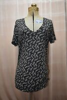 Old Navy Maternity Black Short Sleeve Top Ruched Side Size: Large